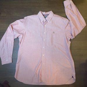 Red Ralph Lauren Button Up - XL